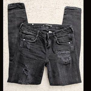 3/25$ Zara faded distressed jeans